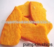 Low Temperature Vacuum Fried Pumpkin Chips--Healthy Snacks