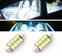 2x White 8SMD 41mm Canbus No Error Car Dome Map LED Light 578 2112 6411 LC-1