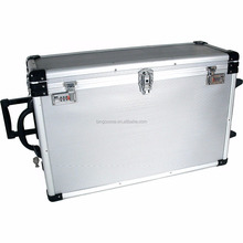 Large Aluminum Rolling Jewelry Carrying Case