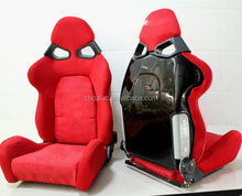 BRIDE GIAS V1 Low Max Black Cloth Reclining Racing Seat w/ Sliders PAIR 2 SEATS