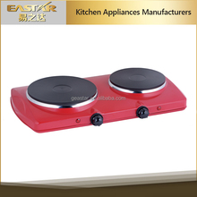 2016 hot sale 2 burner electric hot plate heating stove cast iron heating element