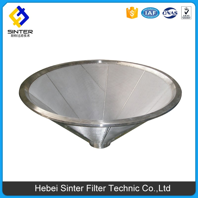 SS 304 material 1000x1000mm size sintered mesh conical filter element