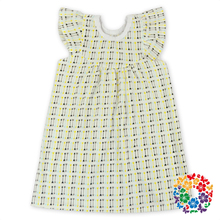 beautiful newborn toddler childrens fluffy sleeve summer casual cotton dresses