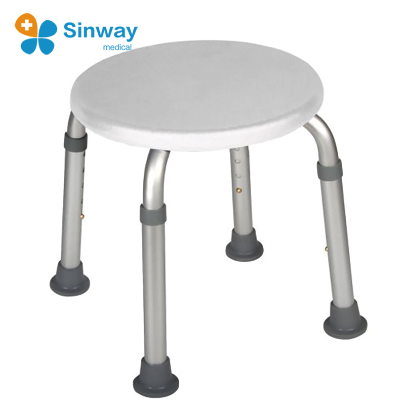 Bath Safety Height Adjustable Round Bath Shower Stool