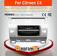 HIFIMAX Android 4.4.4 GPS For Citroen C4 2004-2010 Car Multimedia Player GPS DVD Radio TV Bluetooth System With Wifi 3G INTERNET
