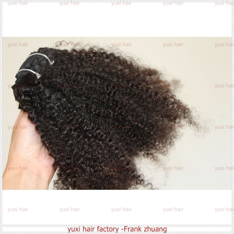 Hot Selling Kinky Hair Weave,Grade 6A Afro Kinky Human Hair