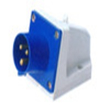 Blue and white 220V/16A general industrial wall plug and socket