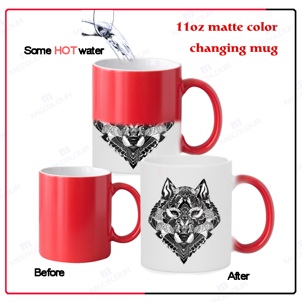 mecolour wholesale changing color mug with sublimation