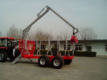 Tractor Atv Log Wagon with crane for timber with CE(1ton 3ton 5ton 8ton 10ton 12ton)