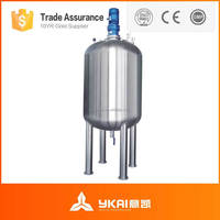 process production of shampoo, stainless steel heating jacket, liquid mixer