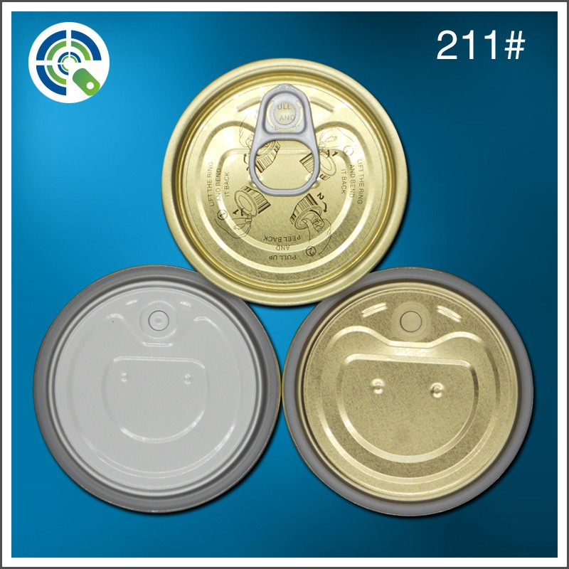 China cheap tinplate can easy open end / mental canned fish canned beef lid factory price