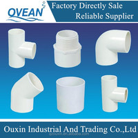 pvc pipe fitting used for home solar system ,various different size upvc pipe fitting for bathroom