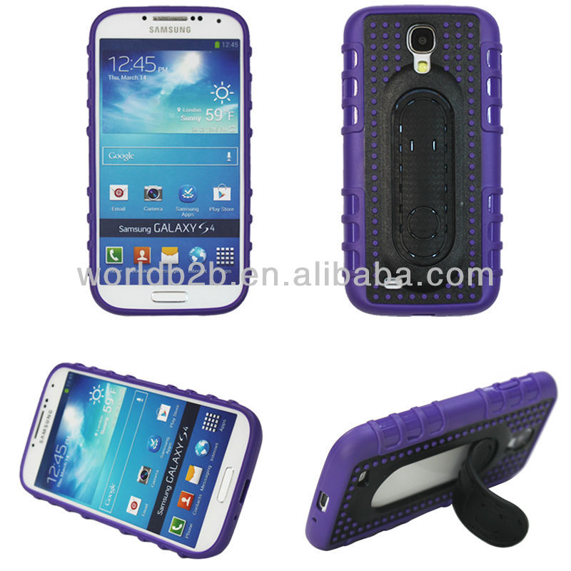 2013 Hot Sell TPU Case Cover for Samsung Galaxy S4 i9500, with Flexible Stand