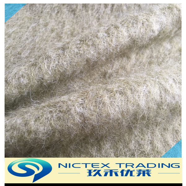knitting plush wool mohair fabric for winter coat