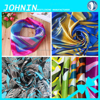 hot sale 100% polyester materials poly satin fabric kinds printed lady's scarf