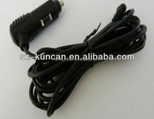 12V 3A waterproof cigar female cable for car solar battery or phone power charger