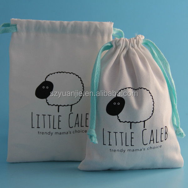 High quality beautiful organic cotton gift bag,promotional gift pouch