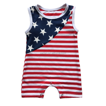 4th of july clothes kids american flag rompers unisex pajamas outdoor onesie