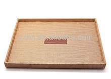 2013 new design hotel pu leather tray for Hotel