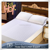 2015 cotton luxury satin used disposable bed linen & cheap hotel bed linen size
