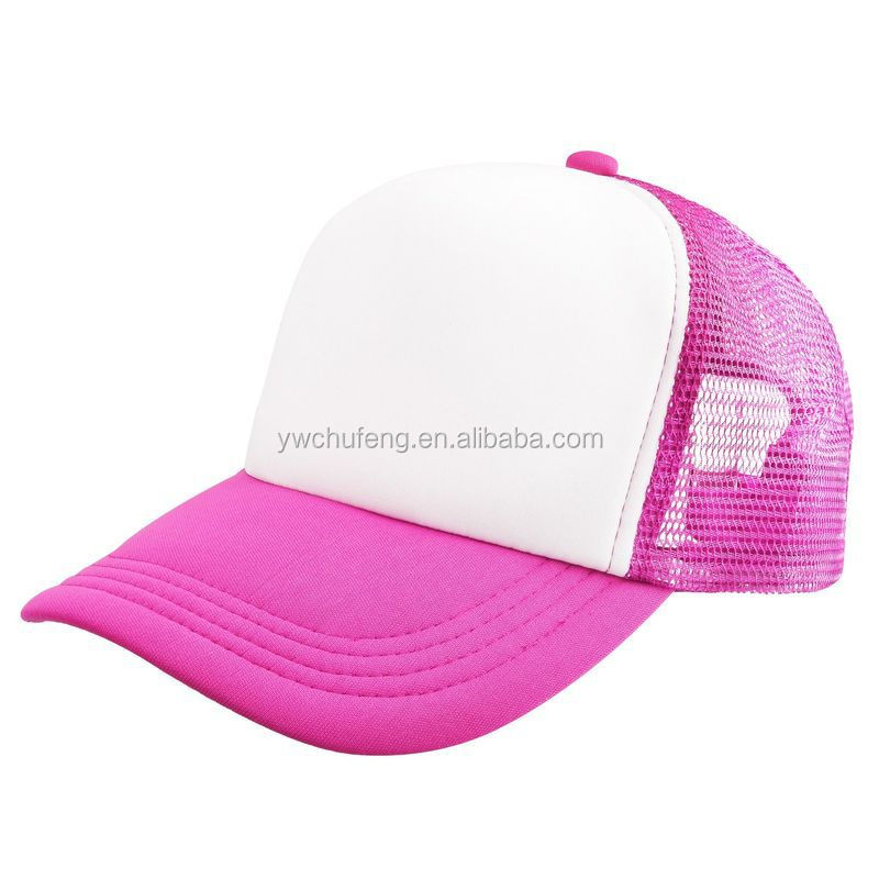Free Shipping New Mesh Baseball Cap Trucker Hat Blank Curved Visor Hat Adjustable Blank Color