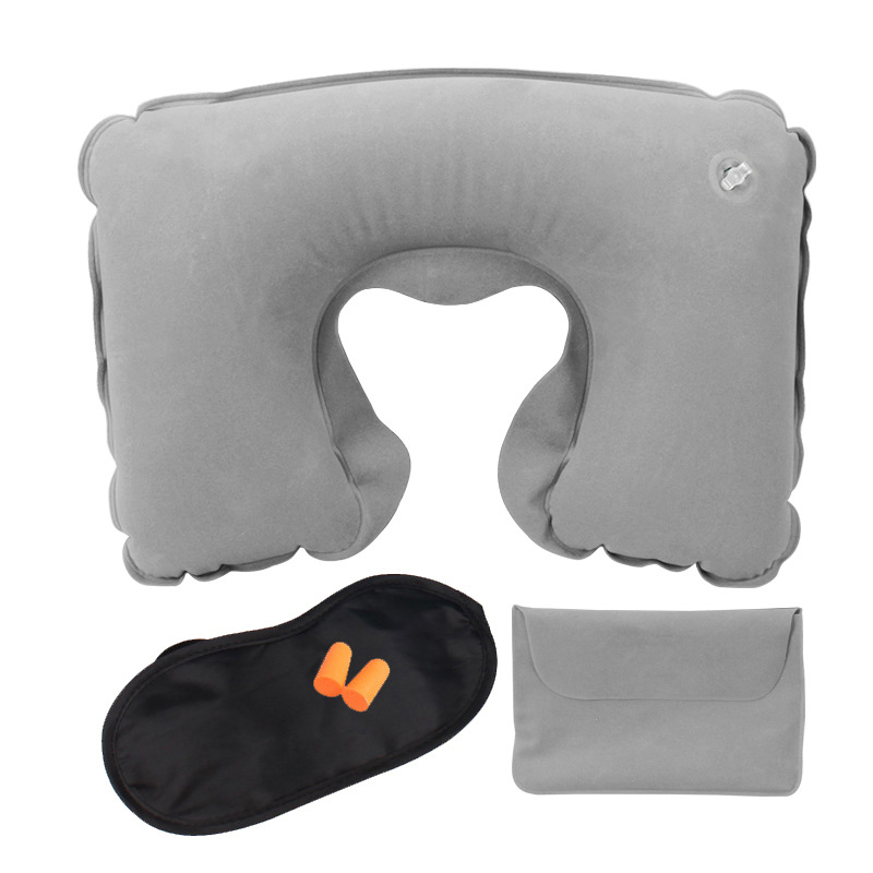 hot sale cheap neck pillows travelling portable outdoor pillows u-shape Inflated air plane bed pillows