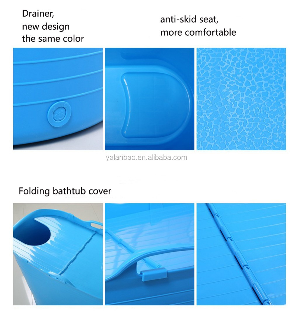 food grade PP material, safety, without any odor plastic bathtub for adult