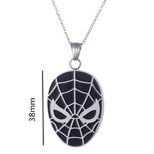 Yiwu Meise Stainless Steel Cool Spider-Man Pendant Necklace