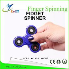 Dazzle colour fingertips gyro 2 leaf aluminum alloy Hand spinner Tri Fidget Finger Gyro Toy,hot selling in Turkey