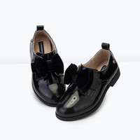 TSELEEGENCE Size 27-35 tseleegence 2016 New Style Children Bowtie fashion Leather Shoes Girls Princess Casual Shoes Dance Shoes