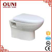 ON-738 Famous brand sanitary wares wall hung washdown ceramic high volume flush toilet