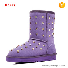 2017 Women Australia Nice Colored Winter Snow Boots with studs