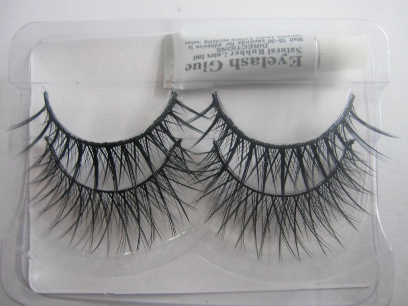 Coolber charming false eyelashes Human hair material