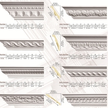 Polyurethane High Density Beautiful Cheap Decorative PU gypsum cornices corners
