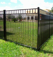 Black Powder Coated Security Backyard Metal Steel Picket Fence, Hot Sale Factory Direct Sale Fence