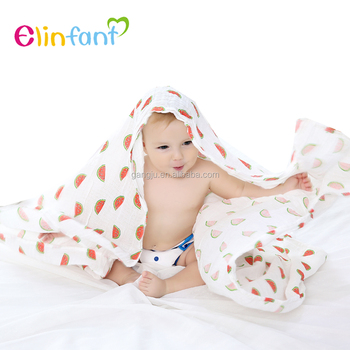 Amazon hot selling 100% cotton swaddle blankets muslin organic swaddle blanket