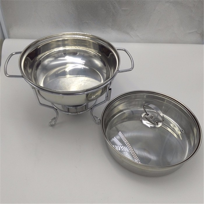 guangzhou supplier silver/gold chafing dish with lid stand buffet dish