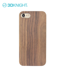 Real walnut wood + black pc cover cell phone case for apple iphone 8