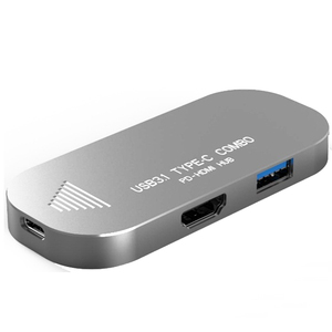 Multi function 5 in 1 PD charging USB 3.1 Type C HUB Combo with HDMI port