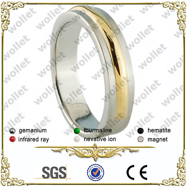 2014 new product stainless steel high school championship massage ring