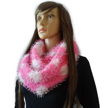 Ladies polyester magic infinity scarf
