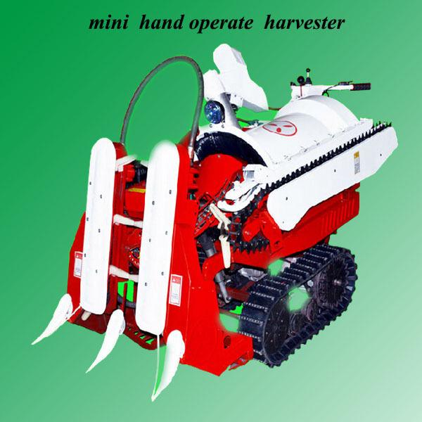 manual fashionable 2 row chestnut harvester machine mini harvester