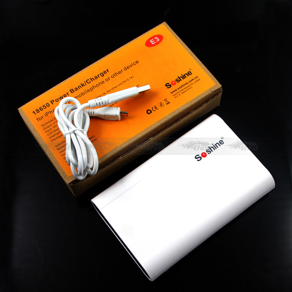 Soshine E3 18650 4pcs 4*18650 DIY power bank 4*18350 battery power bank