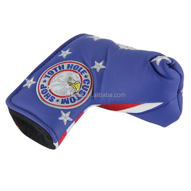 2015 New PU Leather Golf Head Cover for Scotty Cameron Taylormade Odysse NEW USA Flag for Winter