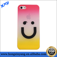 clear plastic cell phone case for iphone 4/4s/5/5s/5c with cute smile face