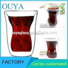 Supplier Hot Selling Lower Price Body Skull Double Wall Beer Glass