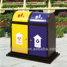 A-06204 Cheap Public Garden Outdoor Stainless Steel Dustbin Perforated