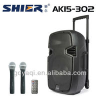 SHIER AK15-302 usb mp3 portable wireless second hand pa systems