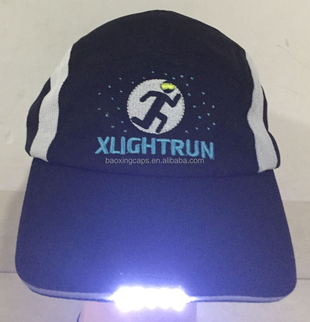 Personalized Led Light hats baseball caps With 5 Led Lights