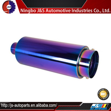 Inlet stainless steel exhaust resonator muffler stainless/ aluminium exhaust muffler